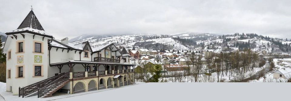 Вигляд на гори в готелі Двір Княжої Корони Славське