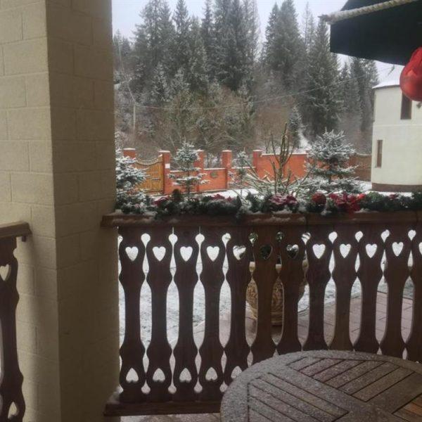 Вид на ліс в готелі Золота Підкова,Славське