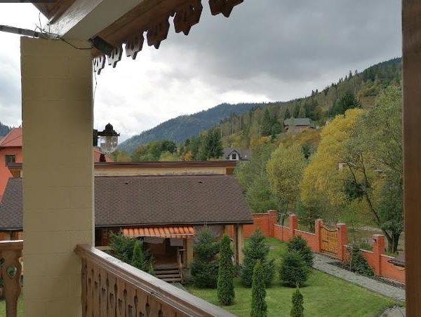 Красивый вид на горы отель Золотая Подкова