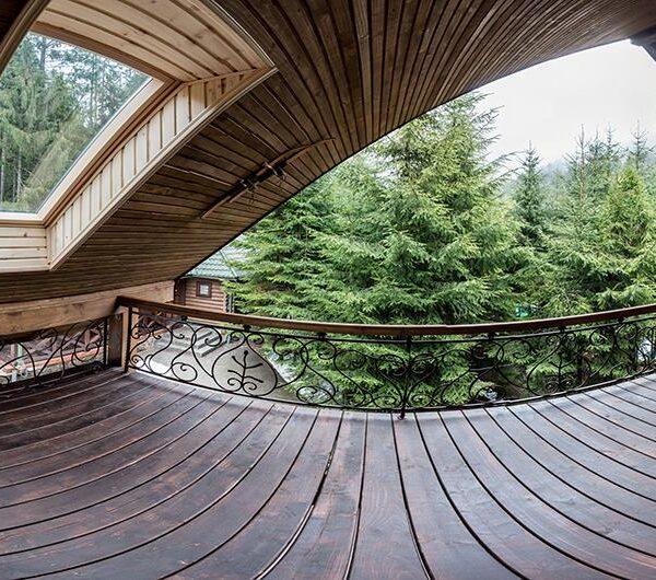 Вид на лес в доме «Лесной маеток»