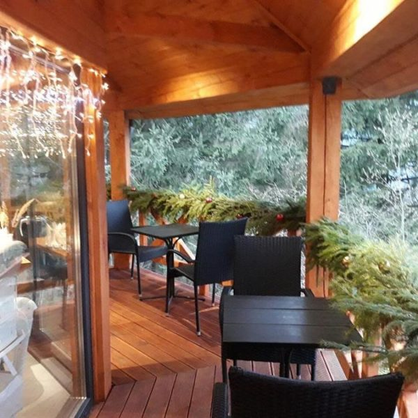 ресторан в горах Славское Альпийка