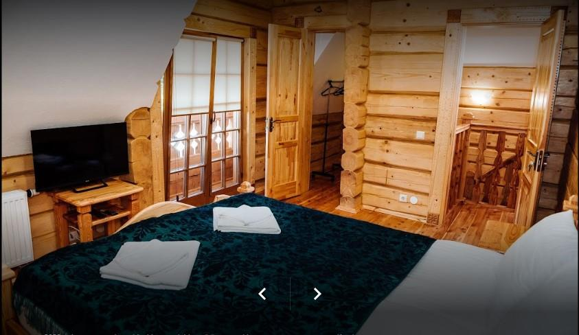 Двуспальная кровать в отеле Панщина, Славское