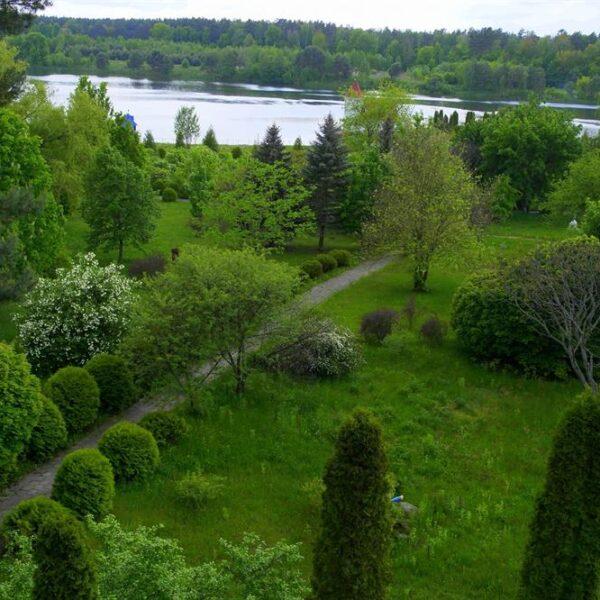 Вид на озеро в санаторії Червона Калина
