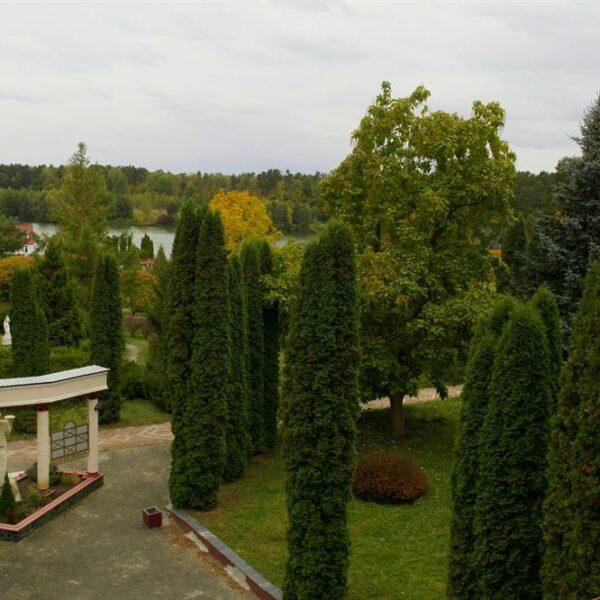 Вид з вікна на територію санаторія Червона Калина