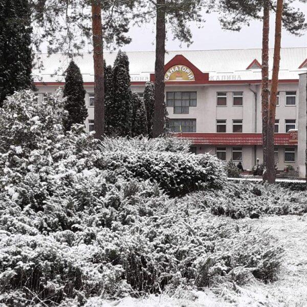 Зима в санатории Червона Калина