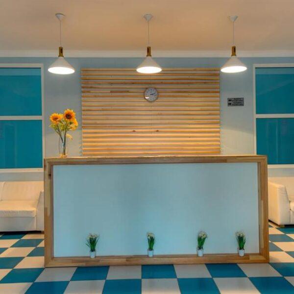 Рецепция спа центра в санатории Лаяр Палас