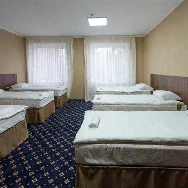 Односпальні ліжка в номері санаторія Лаяр Палас